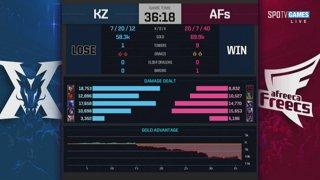 LCK Playoffs: KING-ZONE DragonX vs. Afreeca Freecs