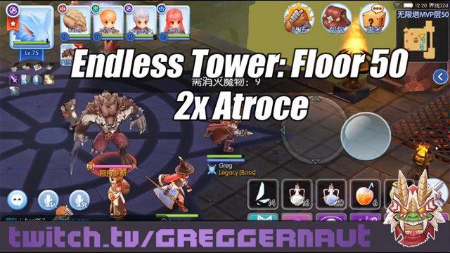 [Ragnarok Mobile] Endless Tower Floor 50 Double Atroce Kill