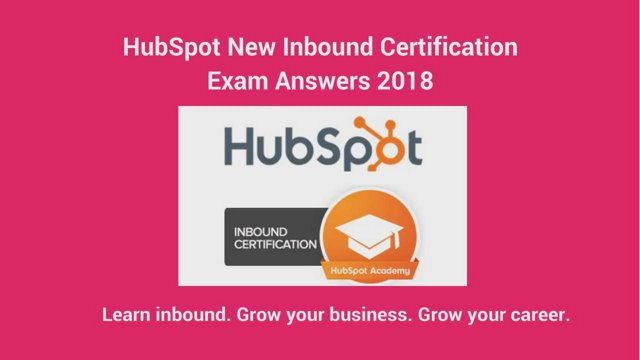 answersources - HubSpot (New) Inbound Certification Exam Answers ...