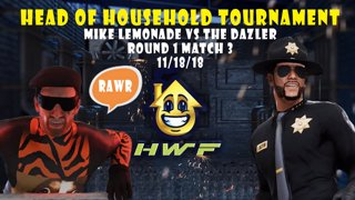 HWF: Head of Household Tournament Mike Lemonade Vs The Dazzler (Round 1 Match 3) 11/18/18