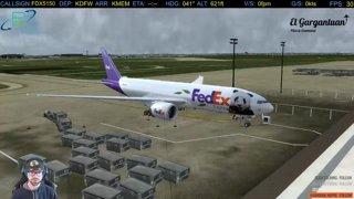 VATSIM Full Flight DFW-MEM Boeing Triple Seven Panda Express
