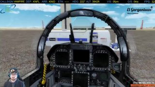 [P3D/Tacpack] F/A-18E KNFL-KNID | Drone shooting and low flying