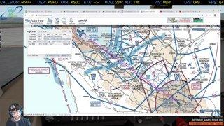 [XP11] C172 REP SFO-SJC-SFO FSE Full Flight