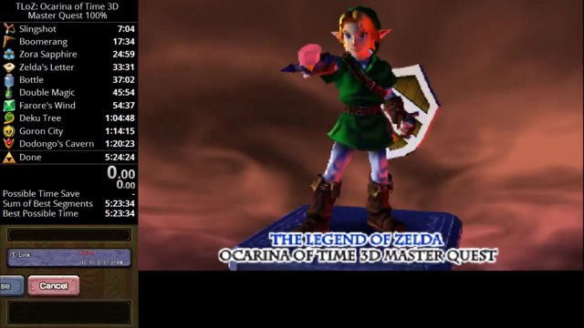 Ocarina of Time 3D: Master Quest 100% in 5:09:44