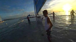 Riding a Sailboat at Sunset 2 (Boracay, Philippines)