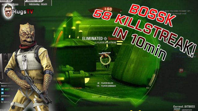 58 Killstreak With Bossk Star Wars Battlefront 2