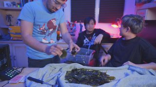 DO NOT TRY THIS AT HOME - Walking across broken glass with Freddie Wong and Robert Ramirez