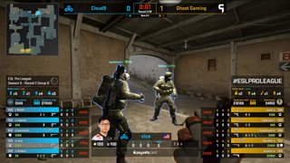 CS:GO - Cloud9 vs. Ghost [Dust2] Map 3 - Group B - ESL Pro League Season 9 Americas