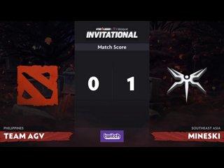 видео: agv vs mineski, 2