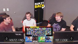 Run It Back - Voltz / Pig (Pikachu / Snake) vs Yep / Loge (Daisy / Wolf) Pool A3 WR 1 - Smash Ultimate Doubles