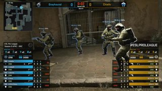 CS:GO - Grayhound vs. Chiefs [Dust2] Map 1 - Group B - ESL Pro League Season 9 APAC