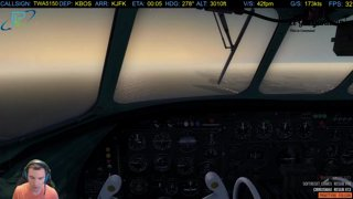 A2A Connie approach into JFK: We puked but,