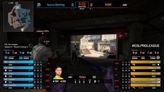 CS:GO - Isurus vs. MIBR [Overpass] Map 2 - Group A - ESL Pro League Season 9 Americas