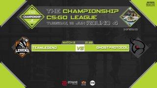 The Championship CS:GO League : Round 4  | Team Legend vs Ghostprotocol