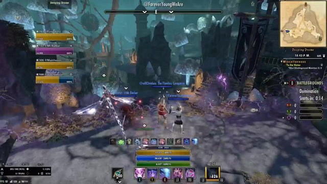Highlight: Elder Scrolls Online (PC) No death Battleground God Mode [on]off