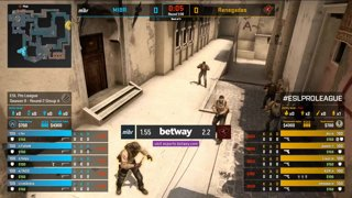CS:GO - Renegades vs. MIBR [Mirage] Map 1 - Group A - ESL Pro League Season 9 Americas
