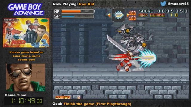 Korean GBA Game Iron Kid