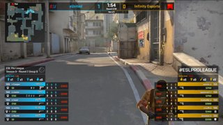 CS:GO - eUnited vs. Infinity [Dust2] Map 1 - Group B - ESL Pro League Season 9 Americas