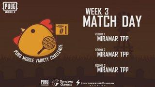 PUBG Mobile Variety Challenge #1 Event Week 3