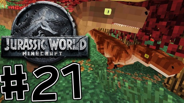 Minecraft Jurassic World: Fallen Kingdom #21 HUNTED BY VELOCIRAPTORS!