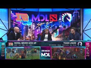 видео: MDL Macau 2019 - RNG vs. Team Liquid by Smile & Maelstorm