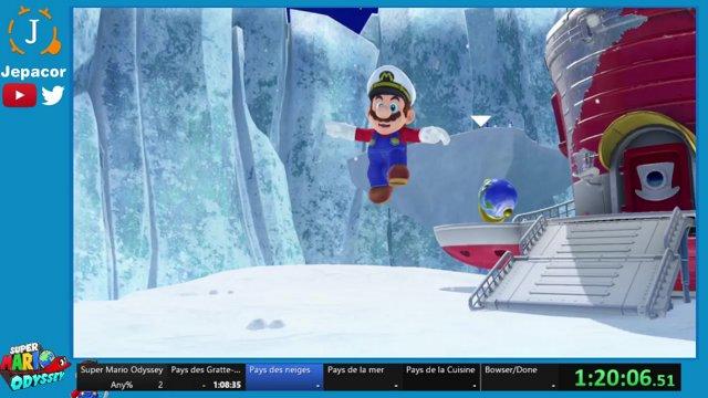 Jepacor Super Mario Odyssey Speedrun Pays De La Mer Twitch