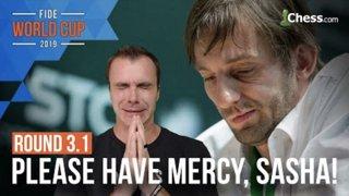 Does Grischuk Show Mercy? | FIDE Chess World Cup Round 3.1