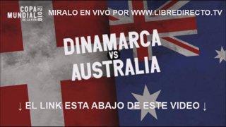 mundial dinamarca vs australia en vivo