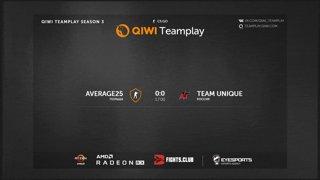 Team Unique vs average25 || QIWI Teamplay Season 3 || SanmaN67 (1'st map)