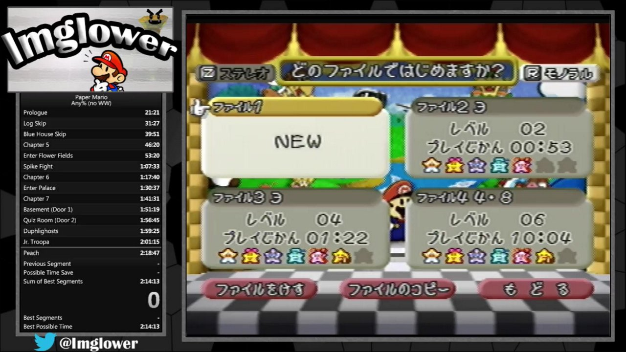 Paper Mario Any No Ww All In 2h 17m 43s By Imglower