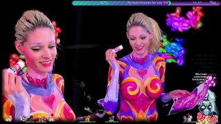4/5 Bodypaint 💘 Heartseeker Ashe💘 Chat, Art, and BACK IN PAINT!