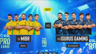 [PT-BR] MIBR vs. Isurus | ESL Pro League 2019 | Dia 12 - [Mapa 1 - DUST2]
