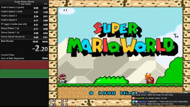 Super Mario World - 11 Exit Orb PB 10:52 65