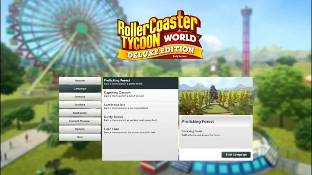 Rollercoaster Tycoon World Live Stream Archive - 1st Time @ Campaign Mode