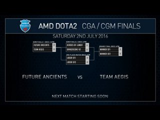 AMD Dota2 CGa Finals Future Ancients VS Team Aegis Game 1