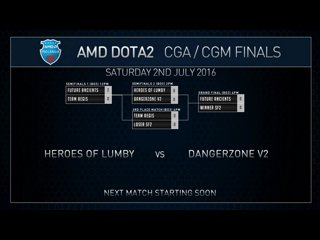 AMD Dota2 CGa Finals Heroes of Lumby VS Danger Zone Game 1