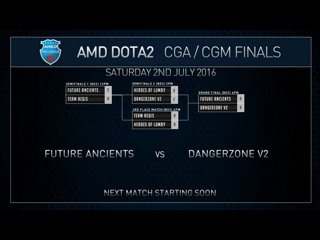 AMD Dota2 CGa Grand Final Future Ancients VS Danger Zone Game 1