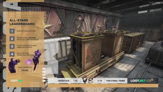 (EN) Heretics vs The Final Tribe | map 1 | Loot.bet/CS Season 3 | by @oversiard & @VortexKieran
