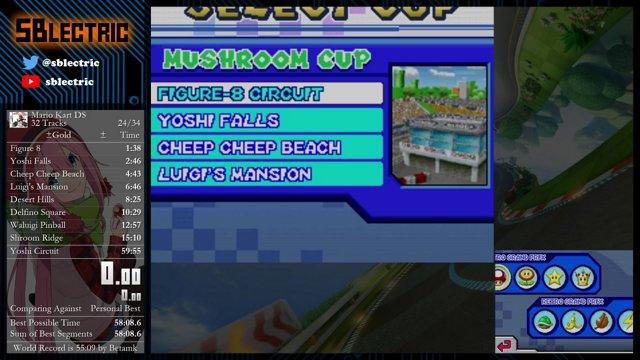 Mario Kart Ds 32 Tracks Speedrun In 59 23