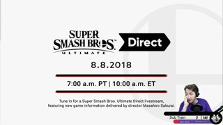 Highlight: IT'S TIME! SMASH ULTIMATE DIRECT! New Character :]