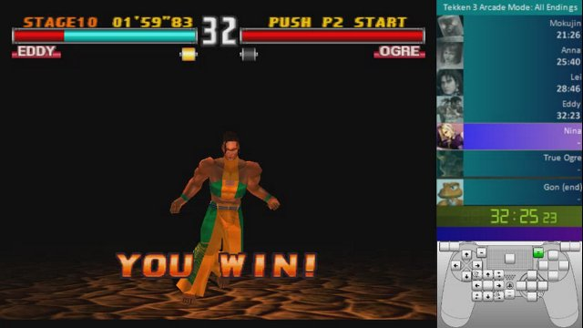 Tekken 3: All Endings (1 Round) Speedrun: 1:14:07