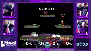 Smash Melee Tournament - Stryder & Alfonzo Vs. Lucky & S2J Poi Poundaz 2 SSBM Doubles Winners Round 2