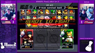 Smash Melee Tournament - Ghost (Marth) Vs. DOVA (Fox) Poi Poundaz 2 SSBM Singles Pools