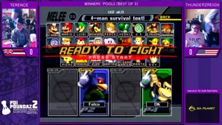 Smash Melee Tournament - Terence (Falco) Vs. ThundeRzReiGn (DK) Poi Poundaz 2 SSBM Singles Pools