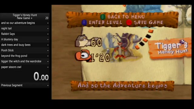 Tigger's honey hunt new game + console WR