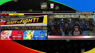SSC 2019 SSBU - PG ESAM (Pikachu) VS eUnited Samsora (Peach) Smash Ultimate Winner's Quarters