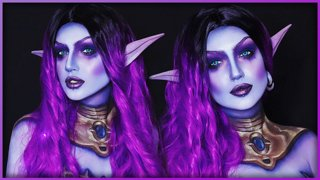 Void Elf Allied Race  - World of Warcraft Inspired Makeup Bodypaint - Djarii MUA
