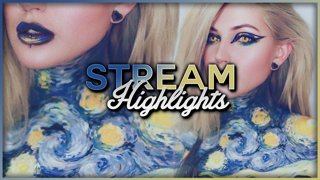 The Starry Night Twitch Creative Stream Funny Moments - Djarii MUA