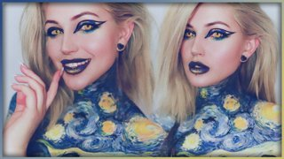 The Starry Night Van Gogh Inspired Bodypaint - Djarii MUA