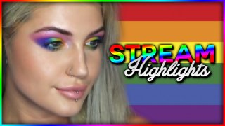 Pride Month Inspired Makeup Look Stream Highlights - Djarii MUA